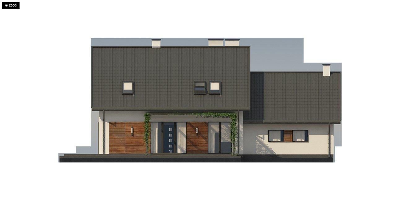 Аккуратный мансардный дом с гаражом для двух автомобилей 9