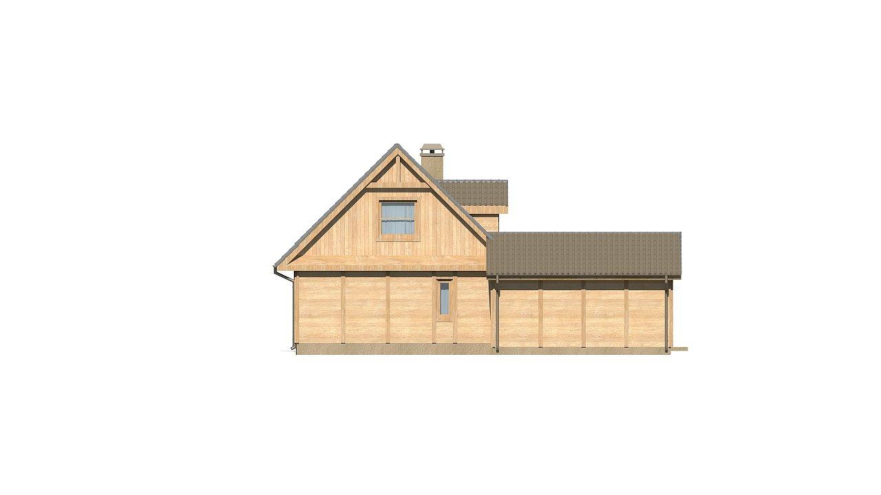 Вариант проекта Z39 c деревянными фасадами и гаражом расположенным с левой стороны. 14