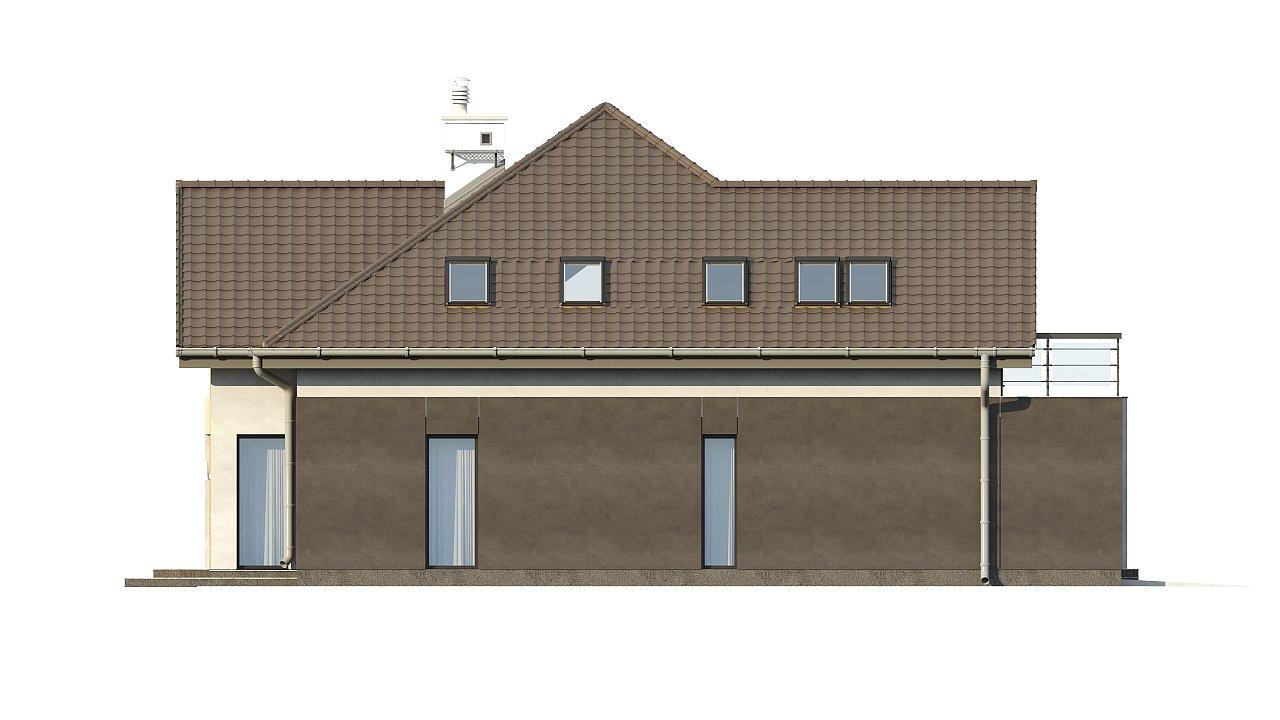 Необычные мансардные окна, фронтальный гараж и современные фасады выделяют этот проект среди остальных. 17