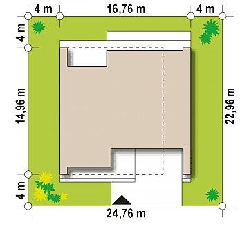 Увеличенный вариант проекта Zx123 с гаражом на две машины, кладовой и сауной. план помещений 1