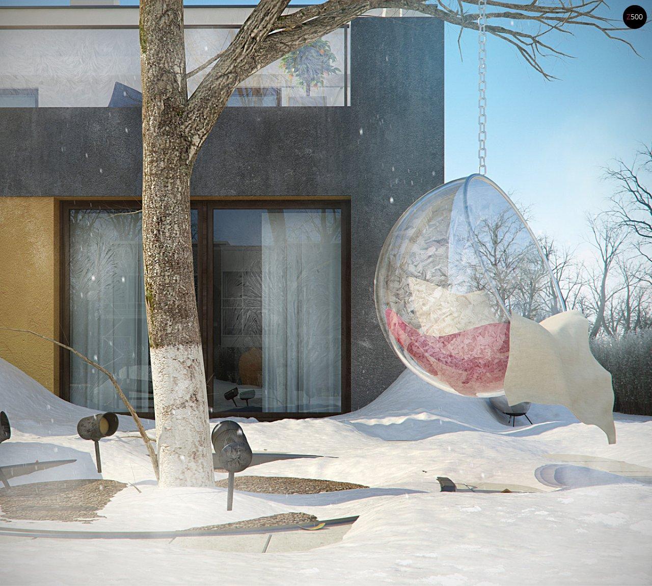 Дом характерного современного дизайна с гаражом и кабинетом на первом этаже. - фото 18
