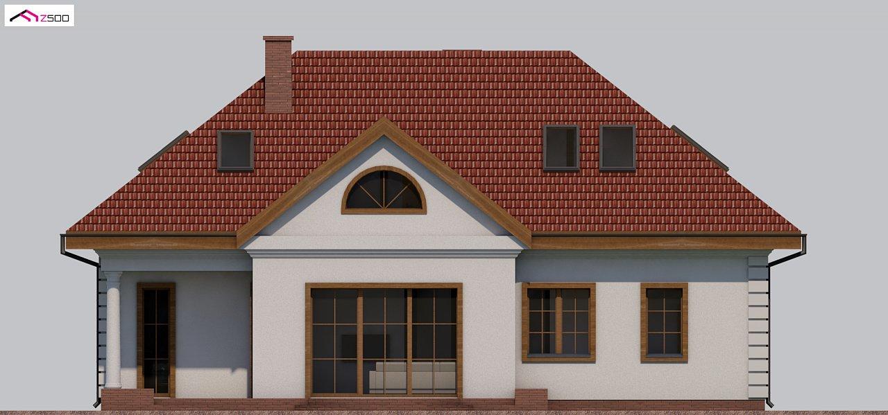 Проект дома в классическом стиле с роскошной мансардой и стильным экстерьером. - фото 18