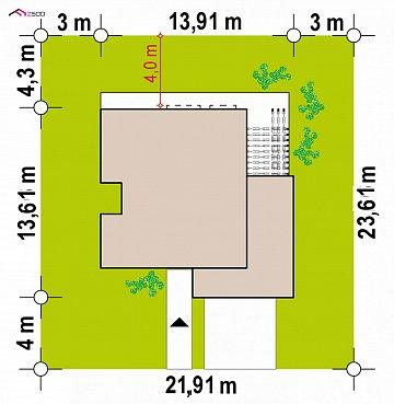 Проект двухэтажного дома с современным фасадом и удобным интерьером. план помещений 1