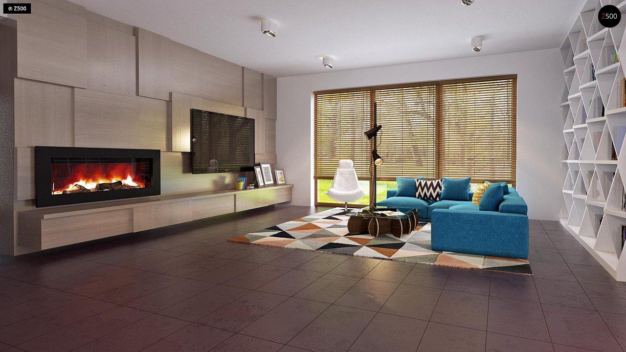 Одноэтажный дом исключительного современного дизайна. - фото 18