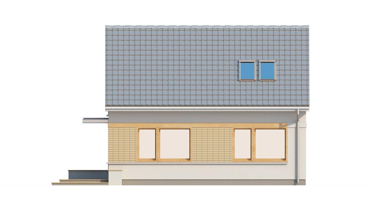 Компактный дом с дополнительной спальней на первом этаже, простой в строительстве, недорогой в эксплуатации. 23