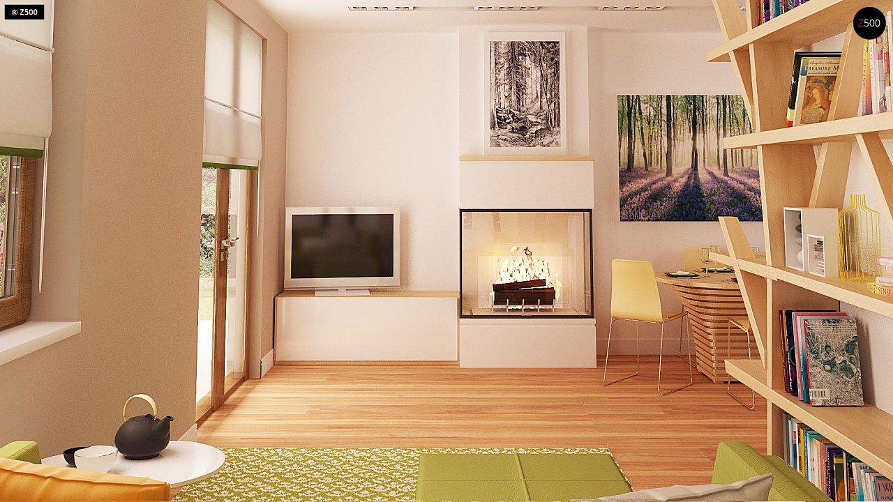 Маленький одноэтажный дом с двускатной кровлей, недорогой в строительстве и эксплуатации. - фото 6