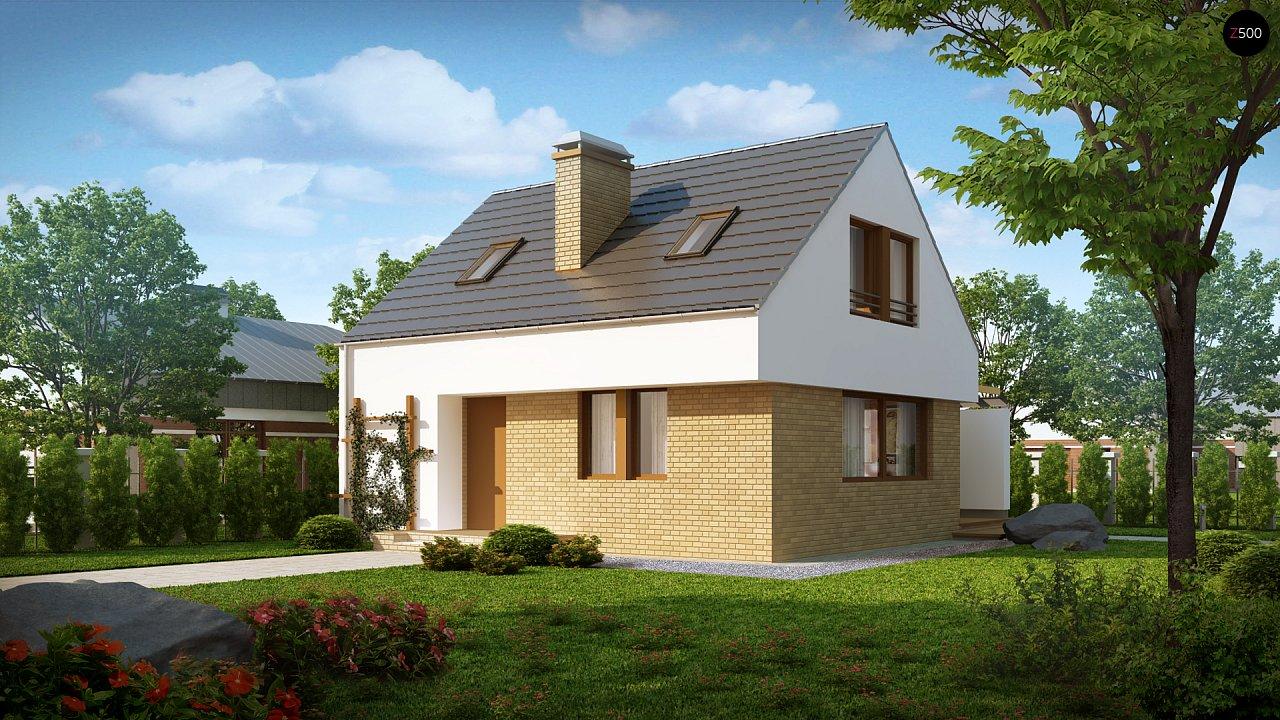 Компактный стильный дом простой формы с большой площадью остекления в дневной зоне. - фото 1