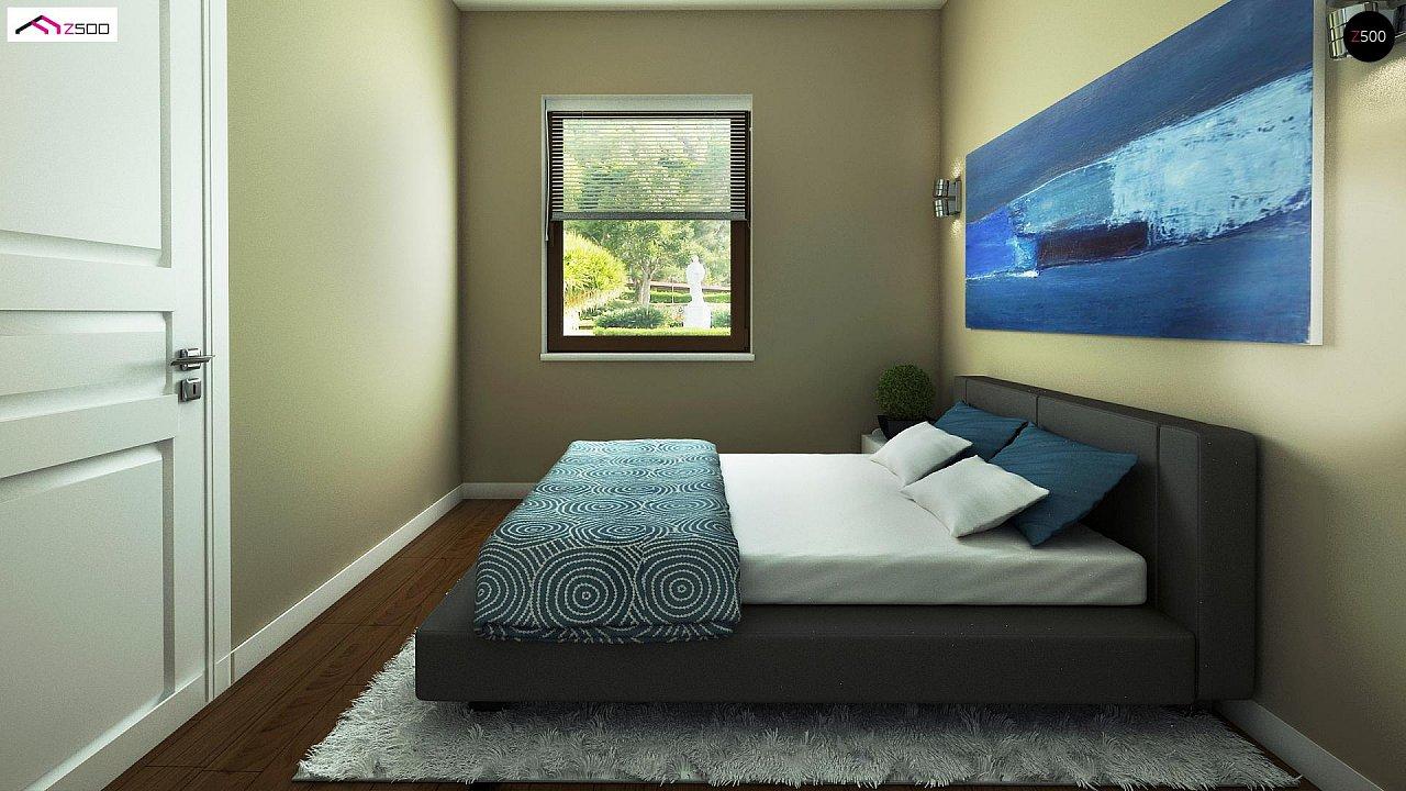 Выгодный в строительстве и эксплуатации маленький одноэтажный дом с крытой террасой. 8