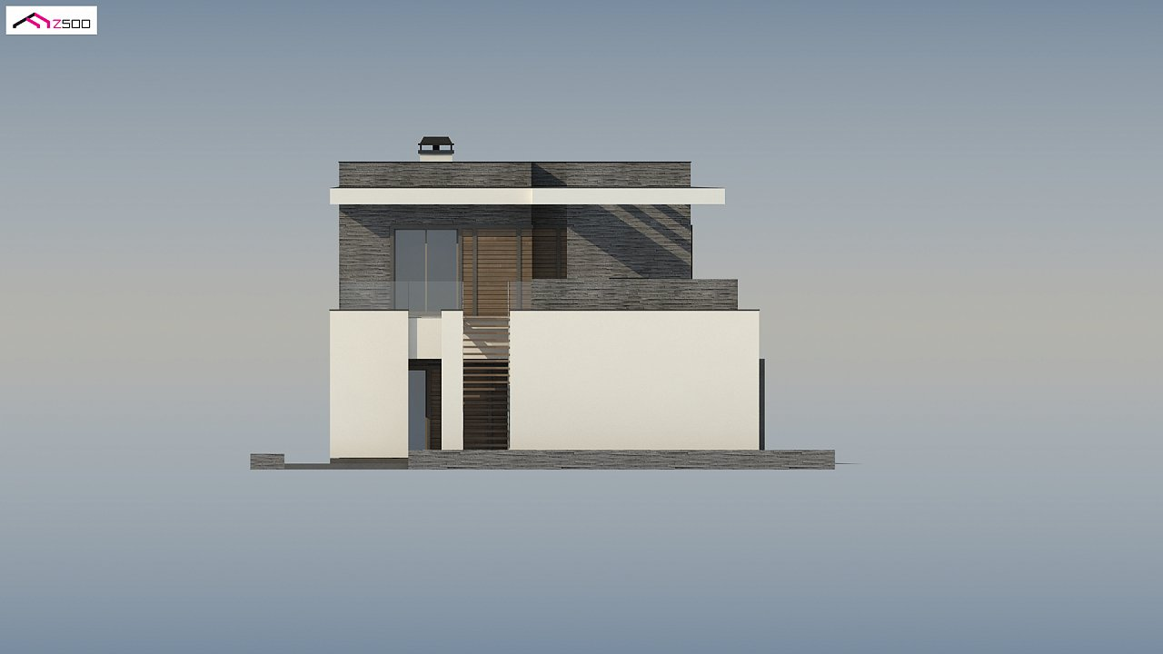 Стильный дом в современном стиле с просторной террасой на втором этаже. 9