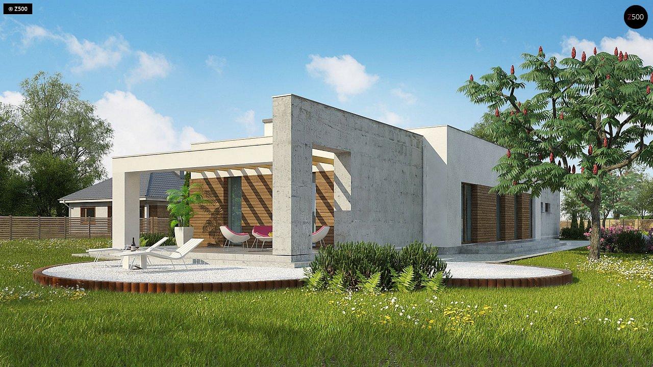 Комфортный одноэтажный дом для узкого участка. 4