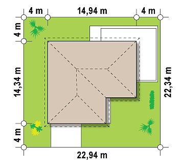 Классический вариант реализации фасадов на основе проекта Z208. план помещений 1