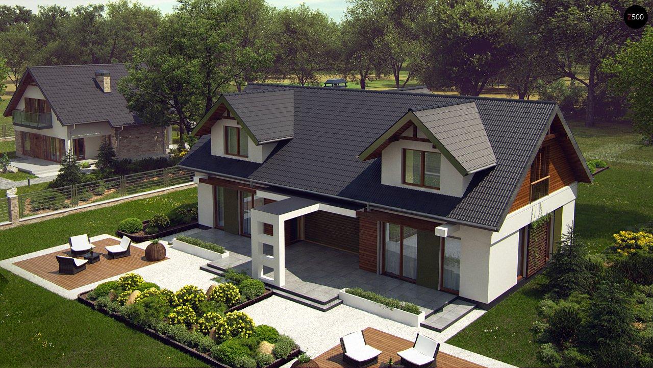Практичный двухквартирный дом с общими входом и техническим помещением. 7