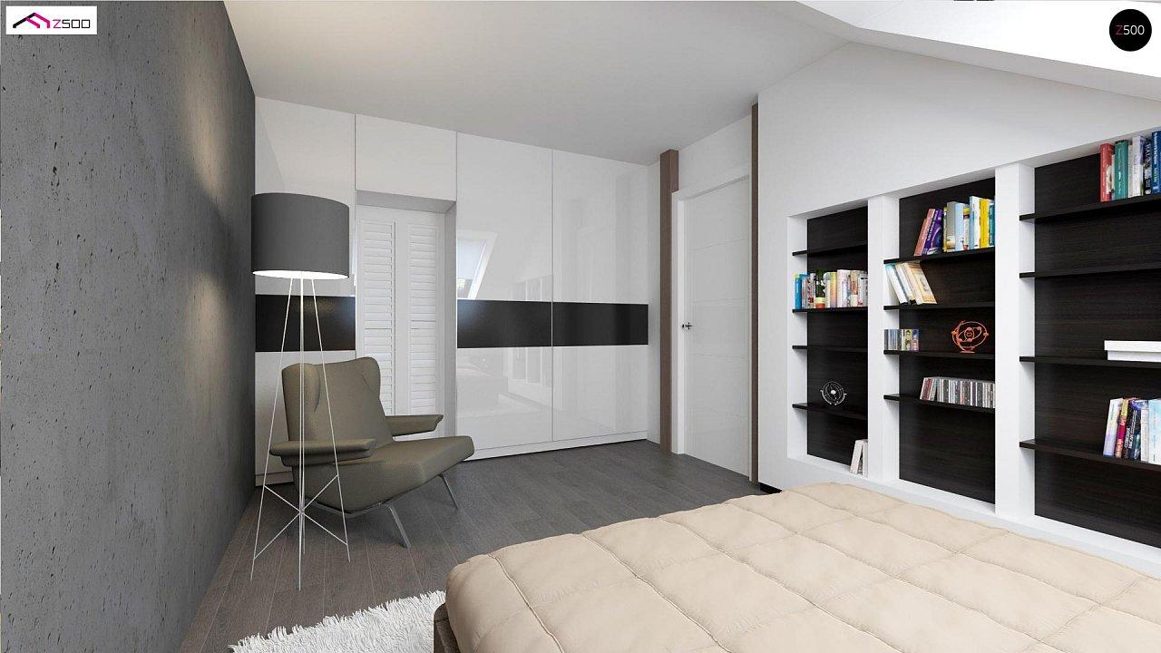 Простой и экономичный дом с мансардой и дополнительной комнатой на первом этаже. 3