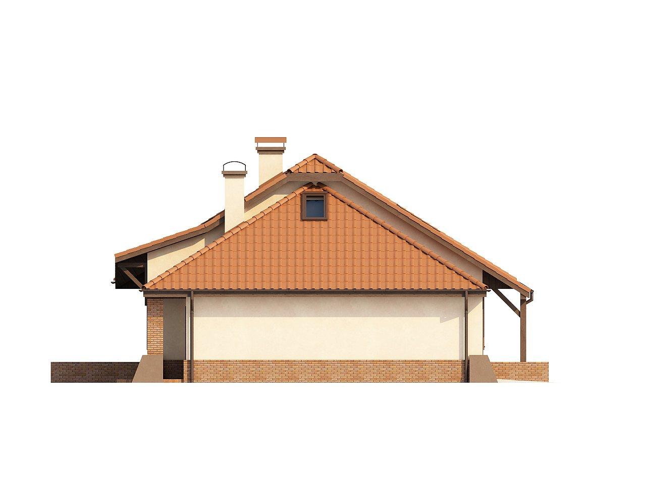 Просторный дом с гаражом, большим хозяйственным помещением и угловой террасой. - фото 5