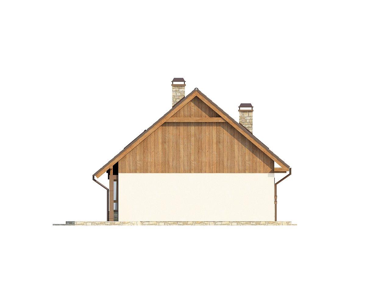 Выгодный и простой в строительстве дом с эркером в дневной зоне. 23