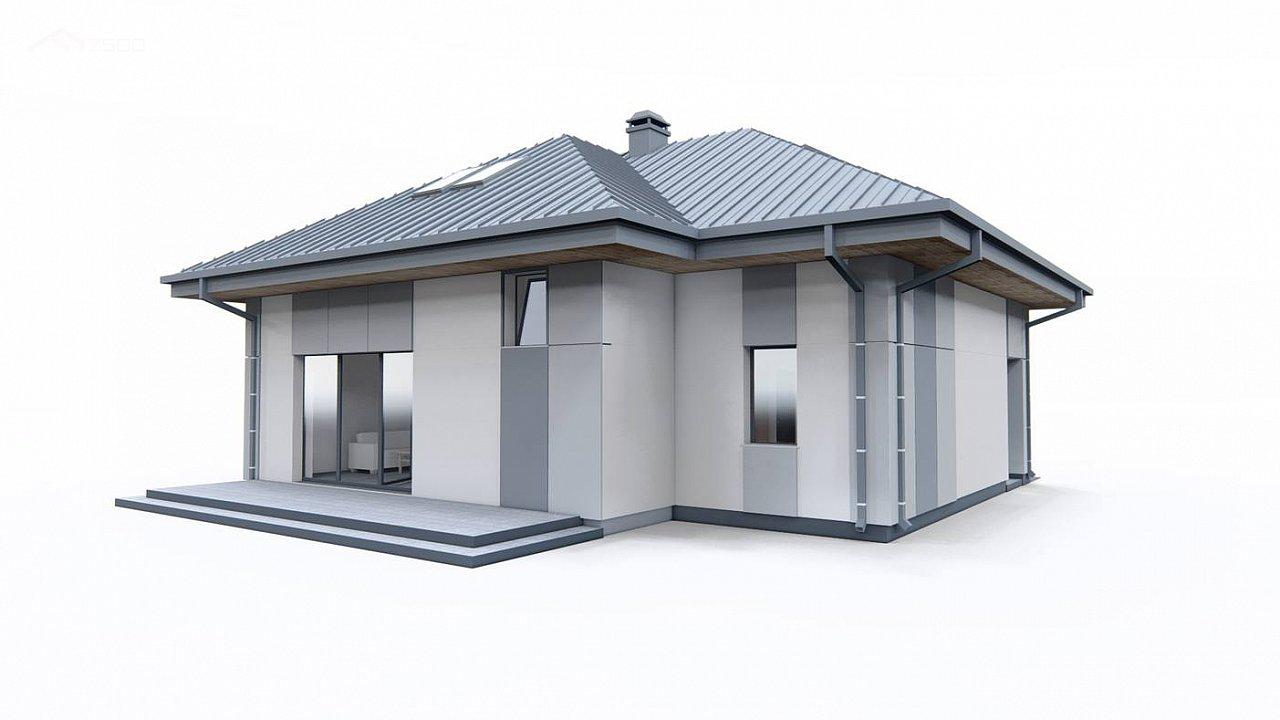 Двухэтажный дом с мансардой 8