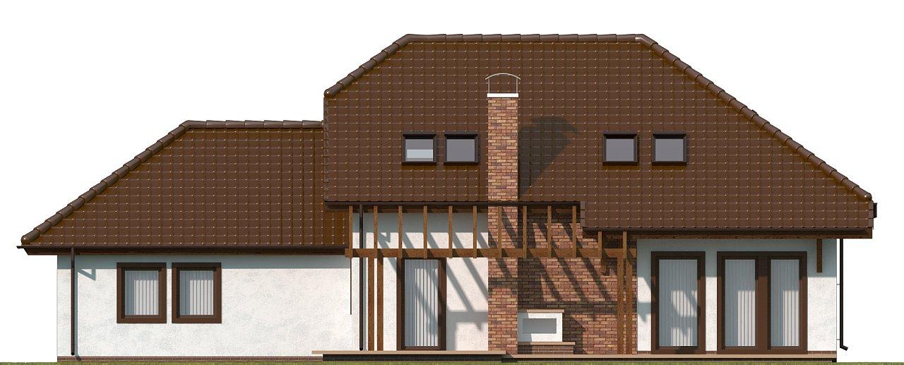 Проект комфортного дома с большим гаражом и дополнительной спальней на первом этаже. 16