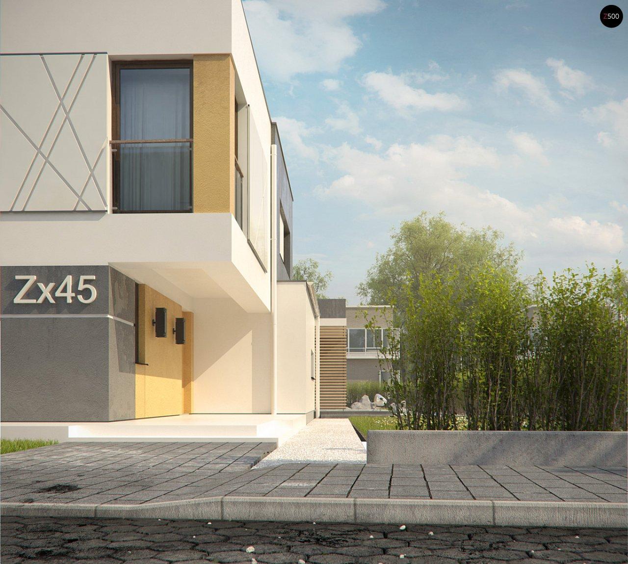 Дом характерного современного дизайна с гаражом и кабинетом на первом этаже. - фото 19