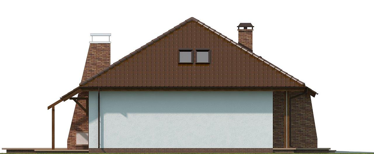 Проект комфортного дома с большим гаражом и дополнительной спальней на первом этаже. 17