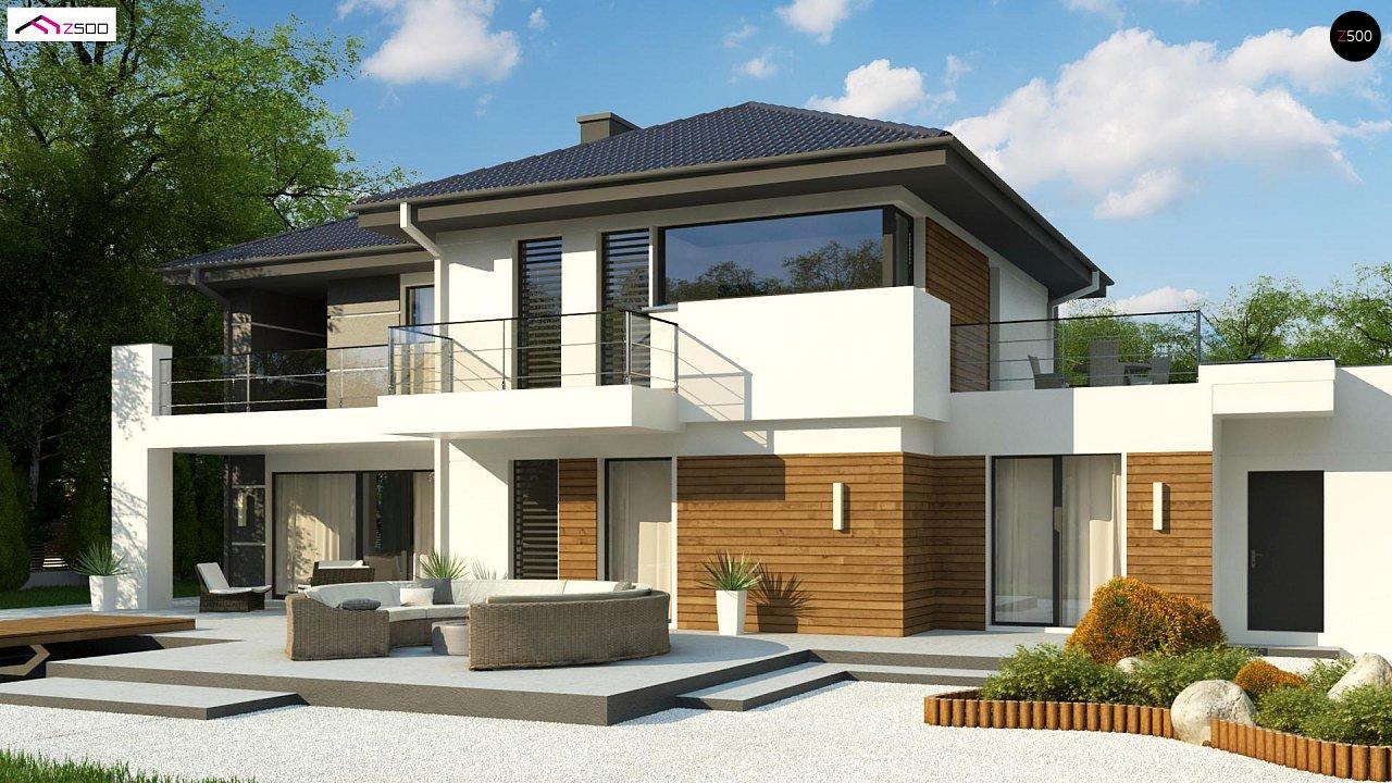 Двухэтажный дом с гаражом на два автомобиля и двумя спальнями на первом этаже 2