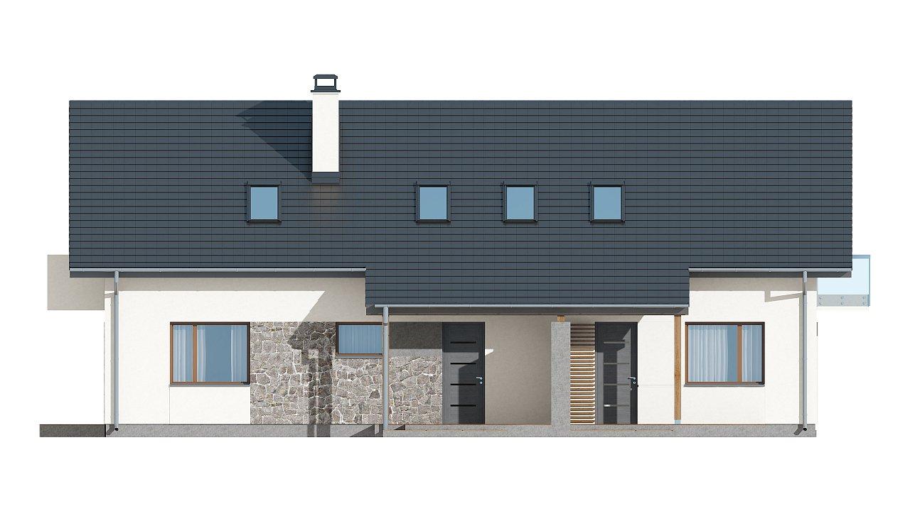 Простой и функциональный двухсемейный дом с отдельными входами. - фото 14