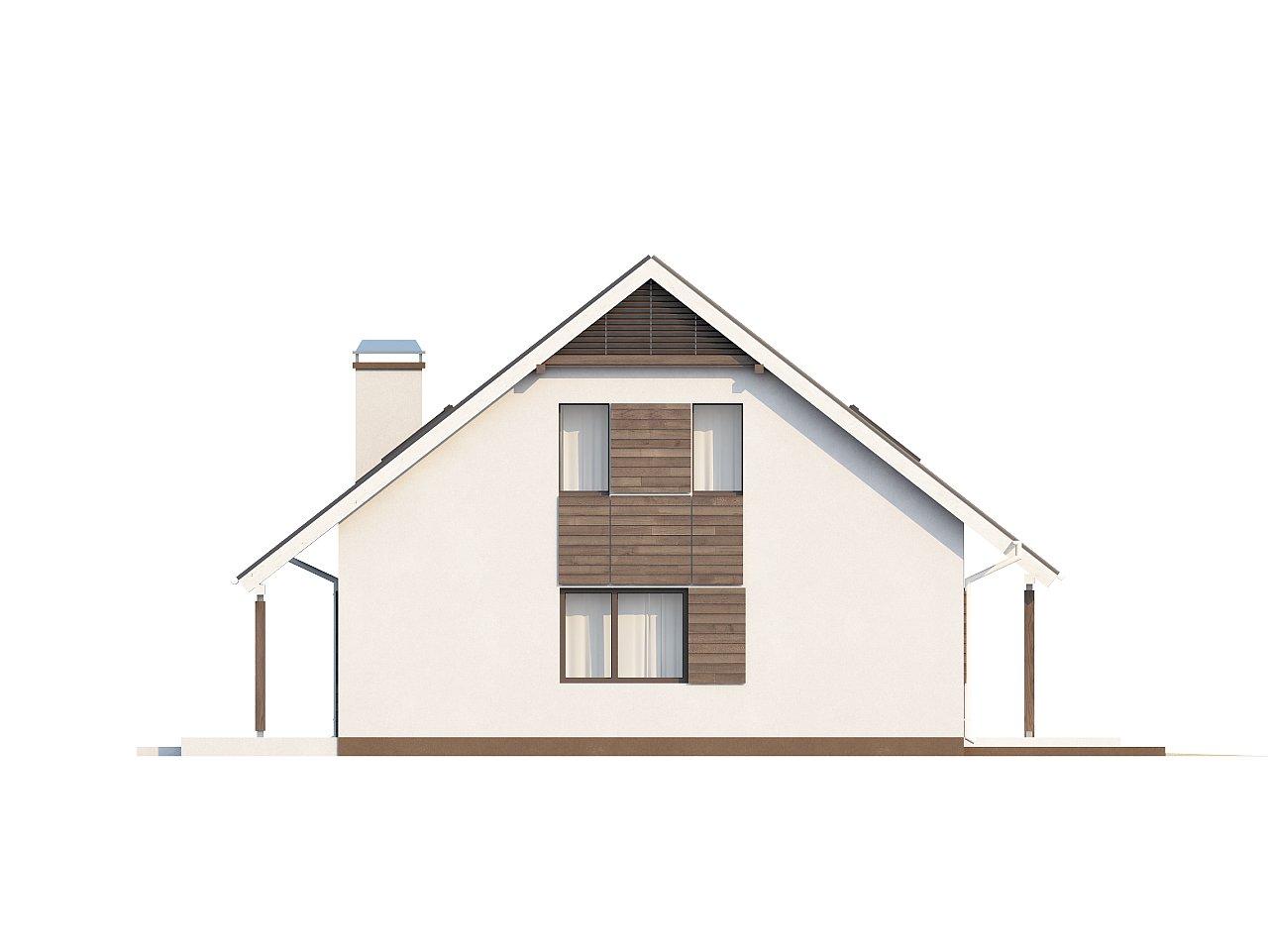 Практичный аккуратный дом с мансардой, со встроенным гаражом для одной машины. - фото 27
