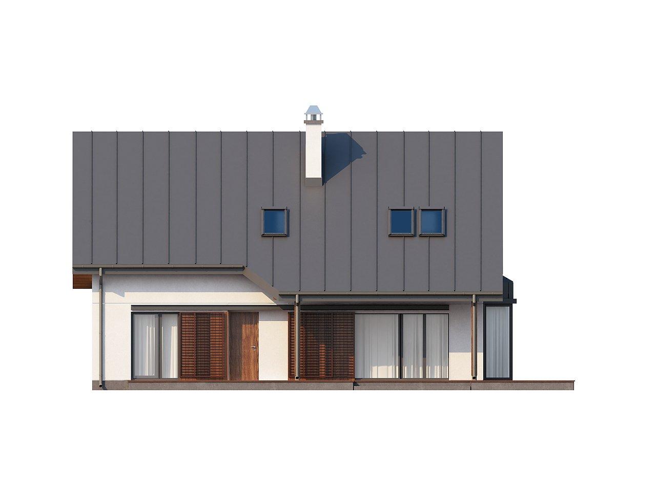 Практичный дом с мансардой, гаражом, кабинетом на первом этаже и стильным эркером. 4