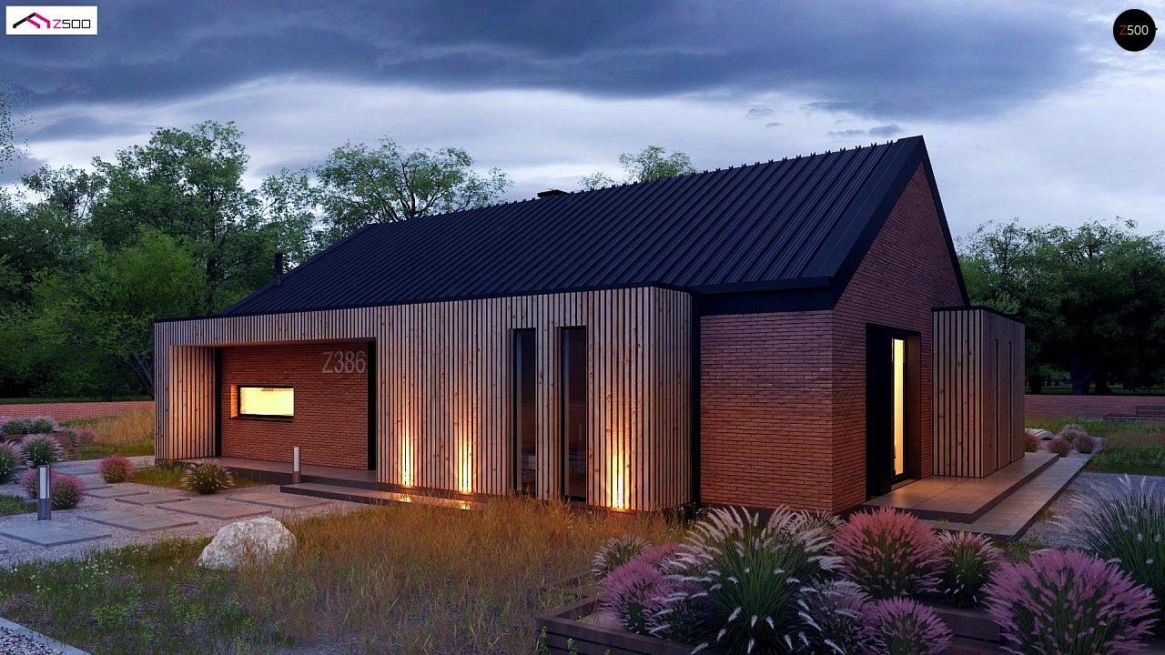 Одноэтажный дом с дополнительным пространством на чердаке 1