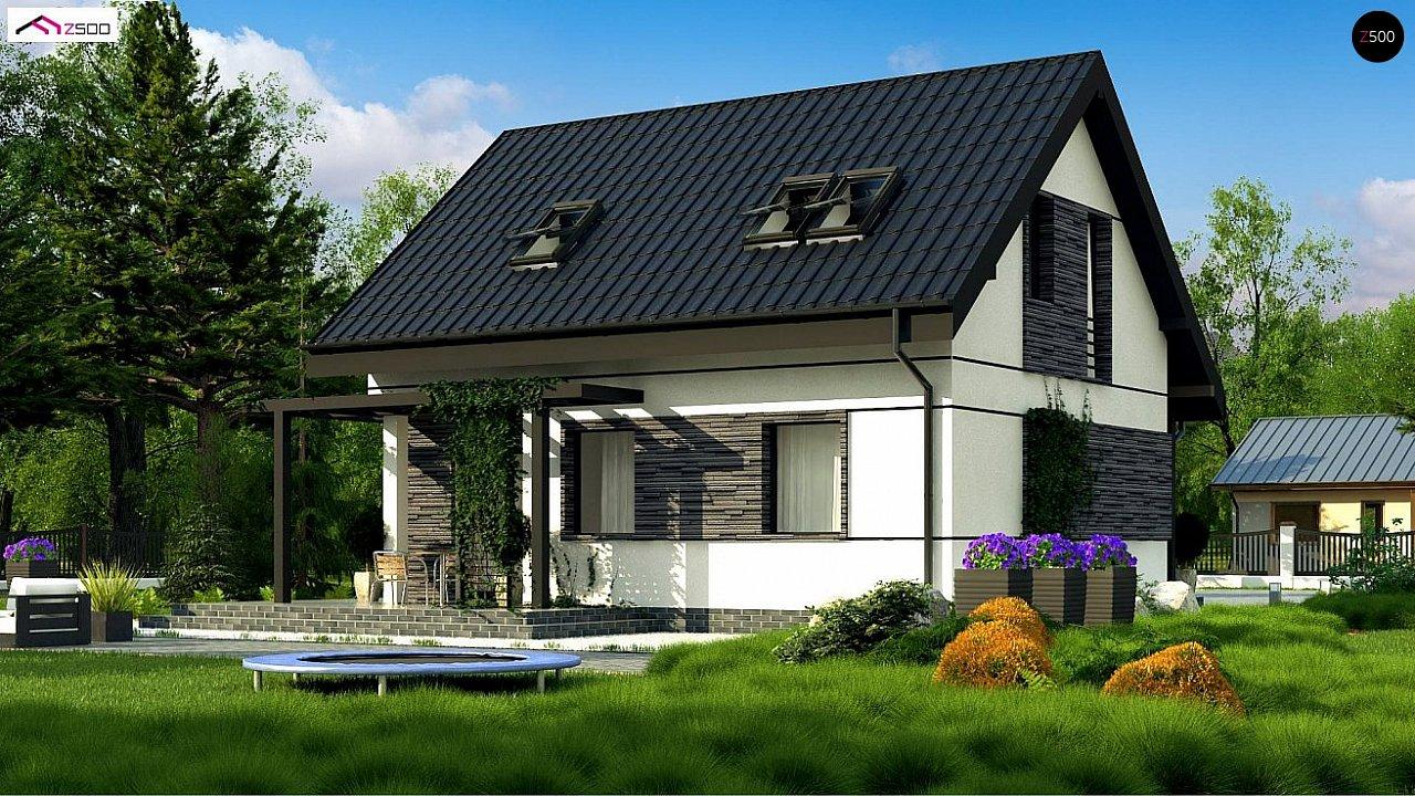 Аккуратный стильный дом с дополнительной спальней на первом этаже. 2