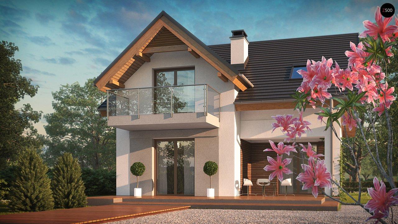 Небольшой стильный и практичный дом с мансардными окнами. - фото 4
