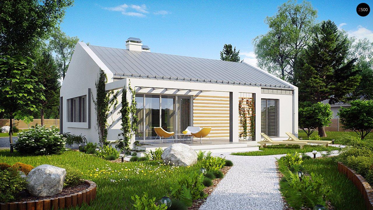 Простой и недорогой в строительстве энергосберегающий дом современного дизайна. 1
