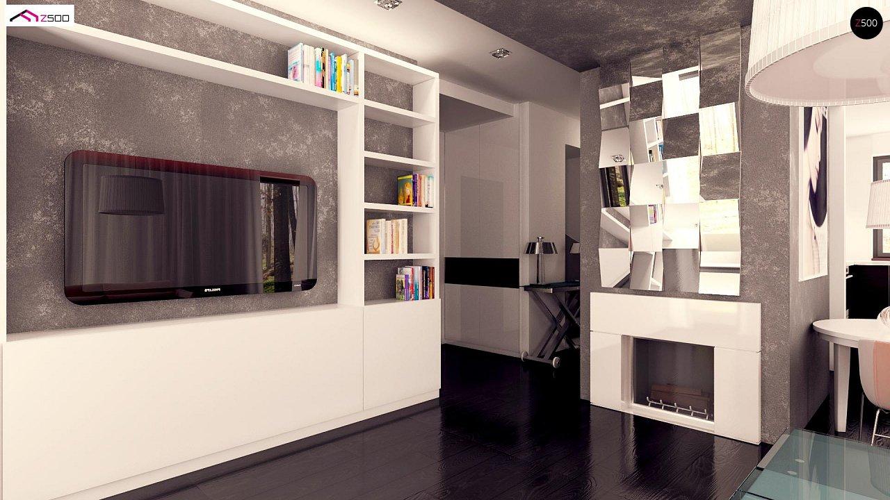 Вариант двухэтажного дома Zx92 с плоской кровлей с плитами перекрытия - фото 7