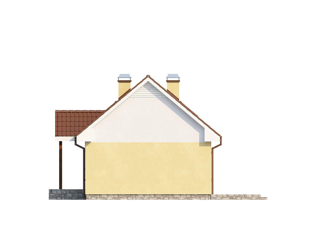 Компактный традиционный дом простой формы с двускатной крышей. 24