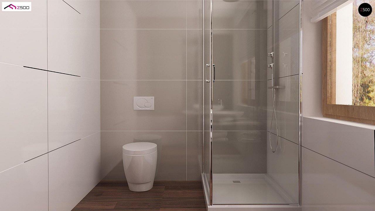 Проект простого и аккуратного дома с дополнительной ночной зоной на первом этаже. 11