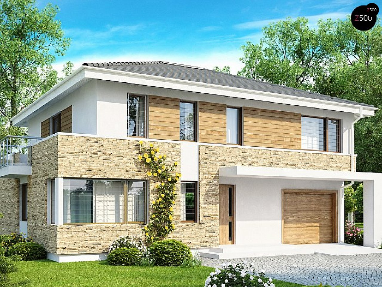Двухэтажный современный дом под сейсмику 1