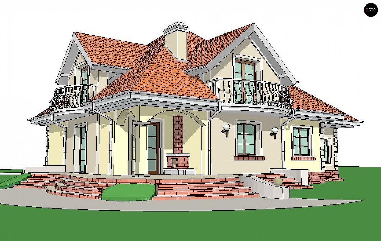 Версия проекта Z18 со встроенным гаражом с левой стороны дома - фото 4
