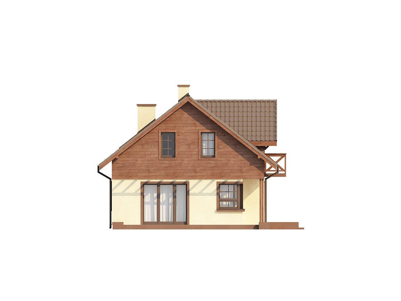 Практичный дом с гаражом, с красивым мансардным окном и боковой террасой. 5