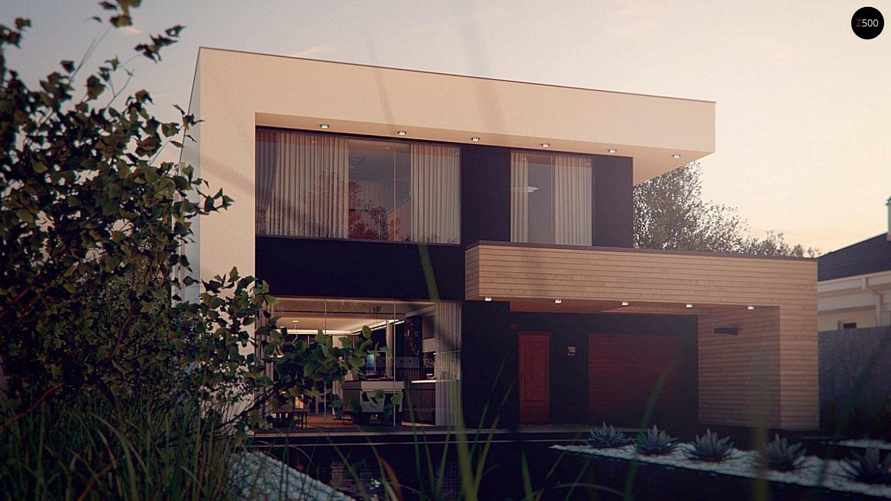 Респектабельный большой дом в модернистском стиле с подвалом. 3