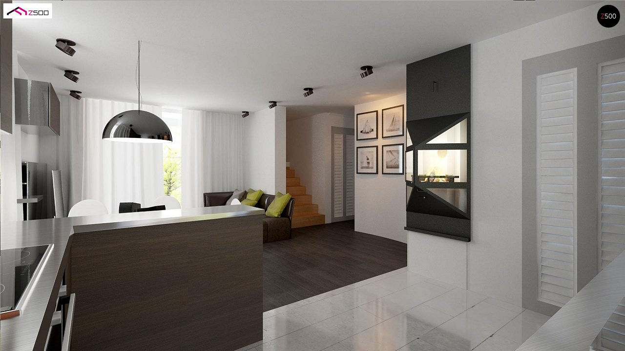 Простой и экономичный дом с мансардой и дополнительной комнатой на первом этаже. 6
