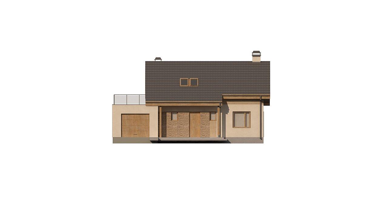 Версия проекта Z210 c гаражом, с альтернативной планировкой. - фото 20