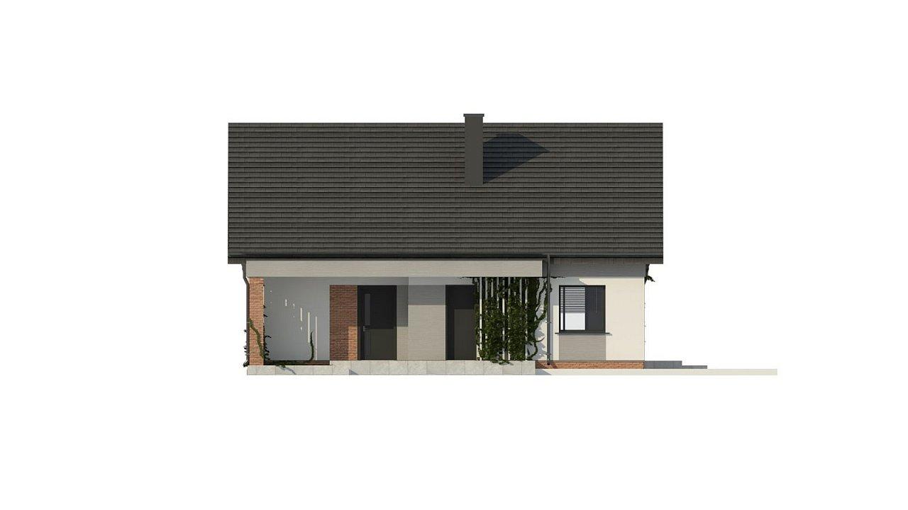Уютный дом с двускатной кровлей и возможностью обустройства мансарды. 13