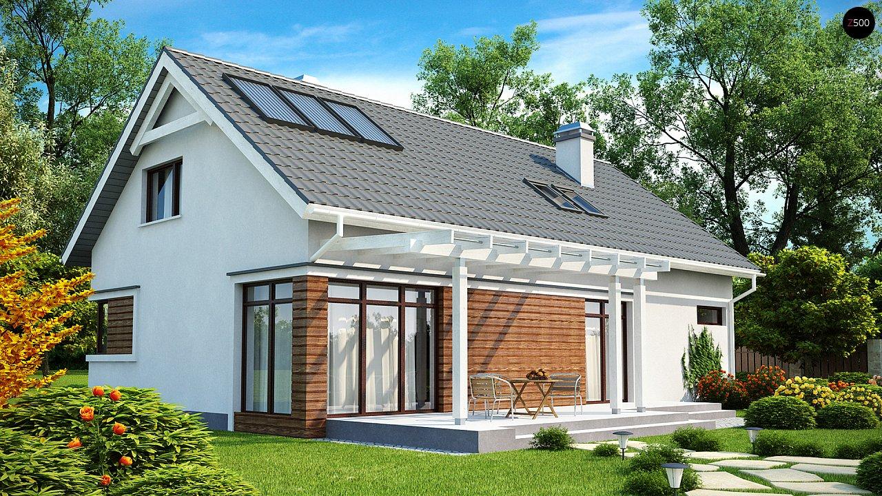Дом со встроенным гаражом, красивым мансардным окном и вторым светом над гостиной. - фото 2