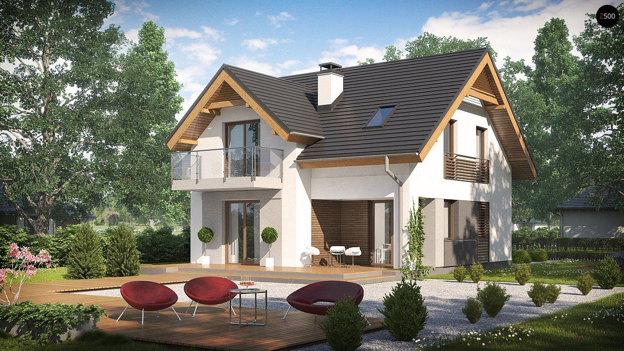 Небольшой стильный и практичный дом с мансардными окнами. - фото 2
