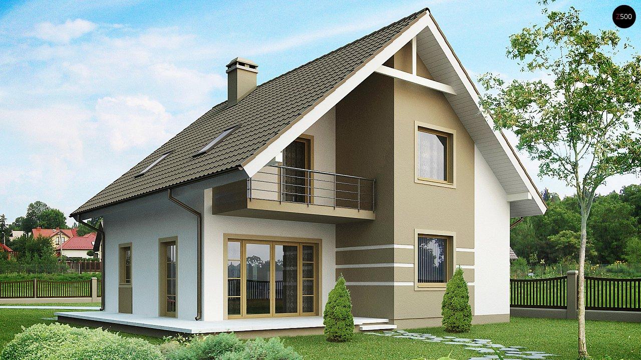 Стильный дом с мансардой, экономичный в строительстве и эксплуатации. 1