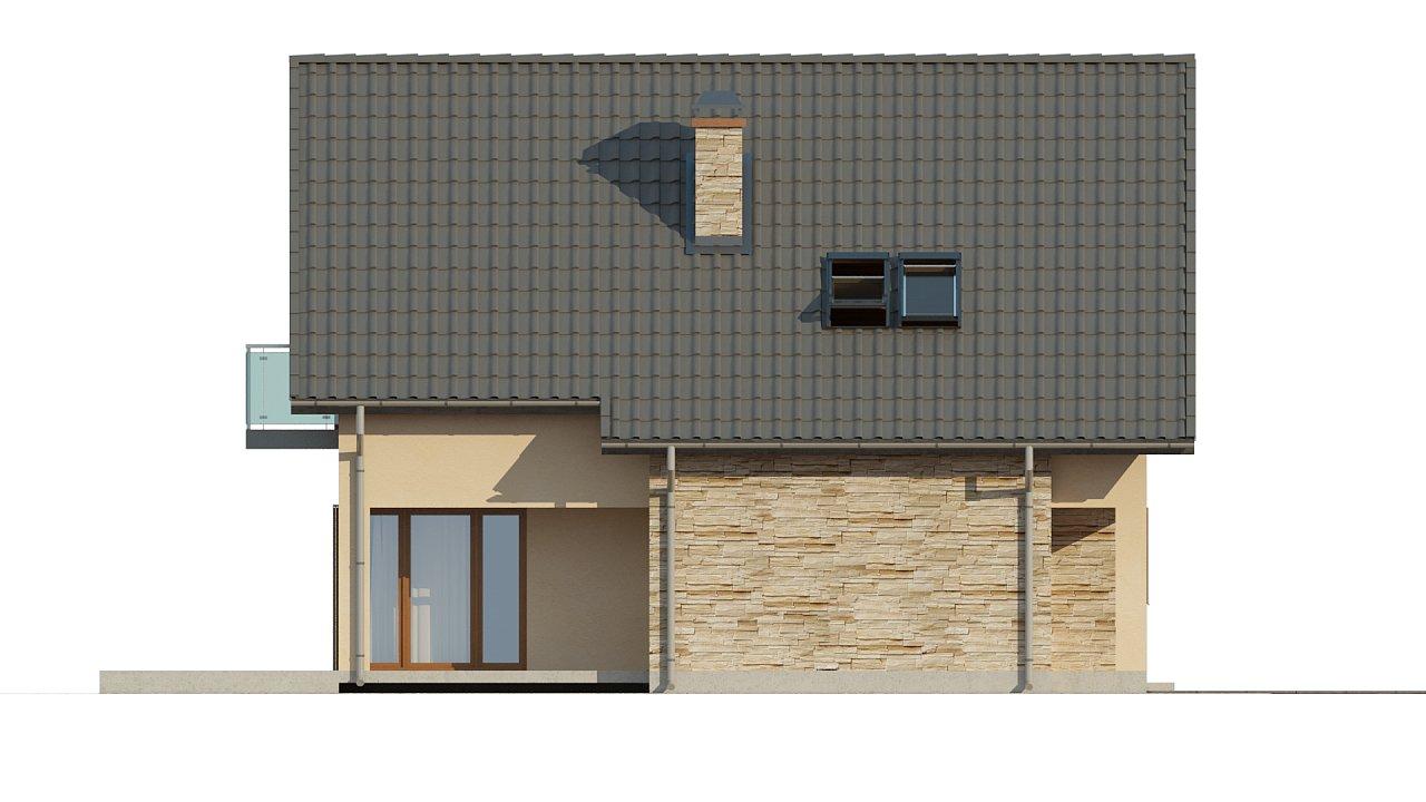 Проект аккуратного и удобного дома с мансардой. - фото 6