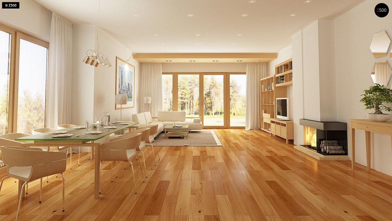 Комфортный элегантный дом с тремя спальнями и выступающим фронтальным гаражом. 7