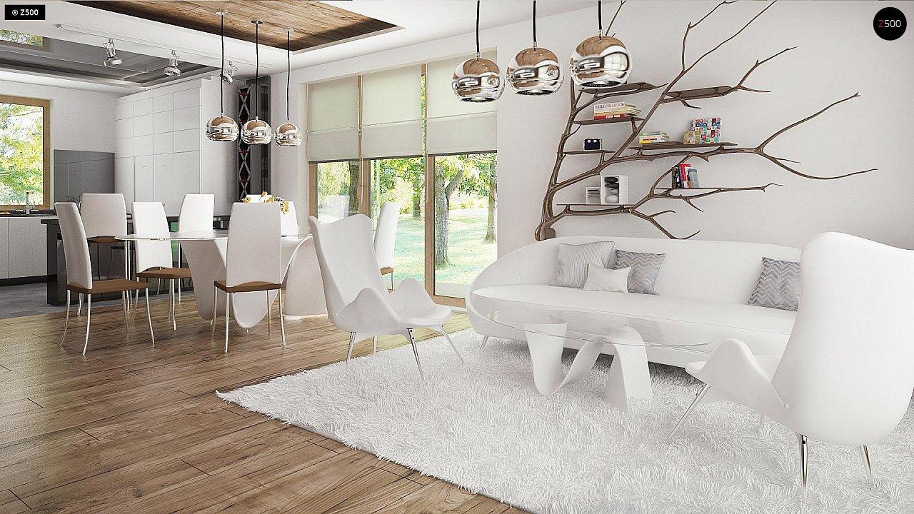 Проект комфортного дома с большим гаражом и дополнительной спальней на первом этаже. 6