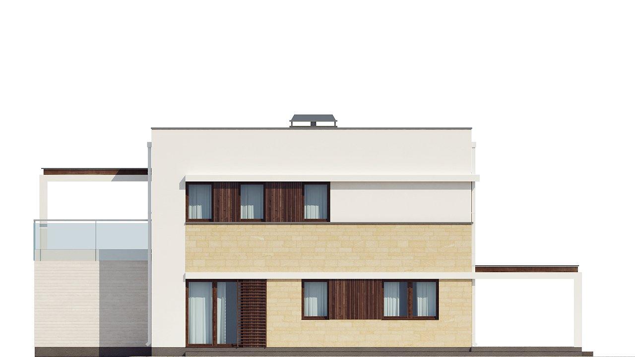 Современный элегантный дом с гостиной с фронтальной стороны. - фото 34