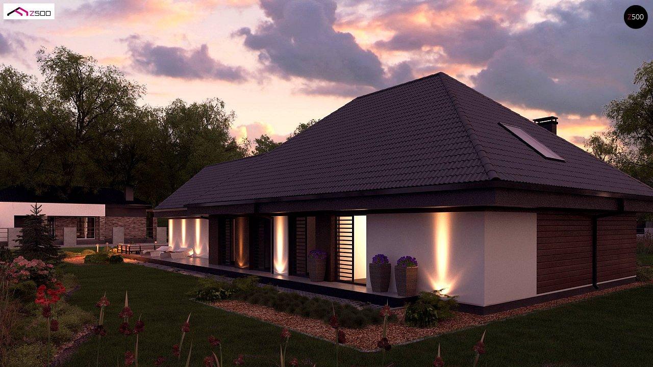 Увеличенная версия Z402 одноэтажный дом с гаражом на два автомобиля - фото 3