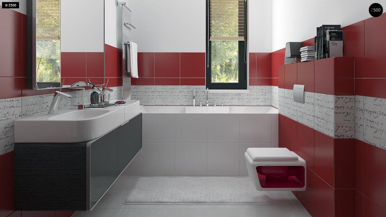Вариант двухэтажного дома Zx24a с плитами перекрытия 20
